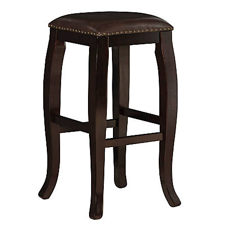 Linon Home Décor Products Rockford Backless Bar Stool, Wenge/Brown