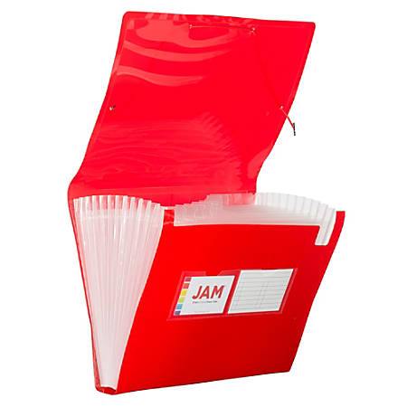 """JAM Paper® Letter Size Expanding File, 6"""" Expansion, 8-1/2"""" x 11"""", Red"""