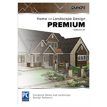 Punch home and landscape design premium v20 traditional disc office depot for Punch home and landscape design premium