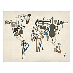 Trademark fine art giclee print on canvas instrument world map by trademark fine art giclee print on canvas instrument world map by michael tompsett 18 gumiabroncs Image collections