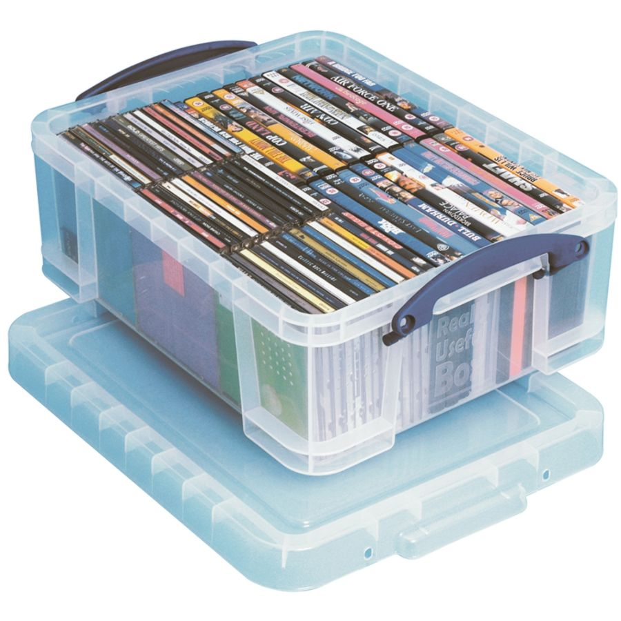 Really Useful Box Plastic Storage Box 17 Liters 18 78 x 15 38 x 8