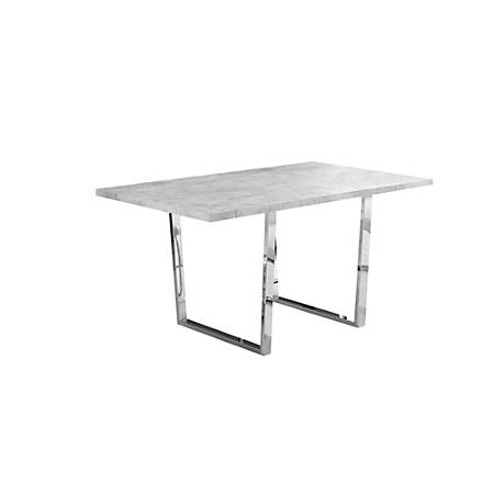 """Monarch Specialties Esther Dining Table, 30-1/4""""H x 59""""W x 35-1/2""""D, Gray"""