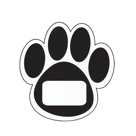 Ashley Productions Die-Cut Magnets, Black Paws, 12 Magnets Per Sheet, Pack Of 5 Sheets