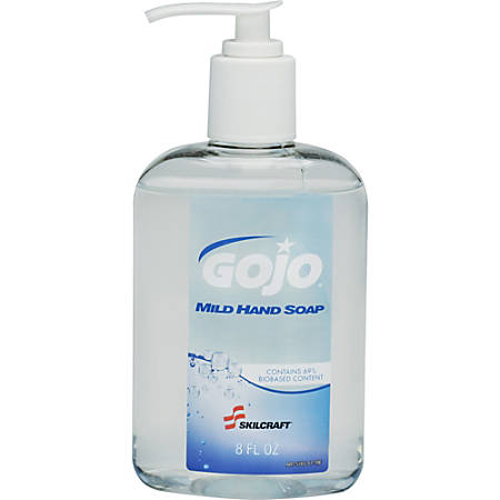 SKILCRAFT® Mild Liquid Hand Soap, 8 Oz, Unscented, Pack Of 12