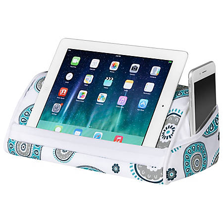 LapGear Designer Tablet Pillow with Phone Pocket - Medallion - Fits Most Tablets - Style No. 35525