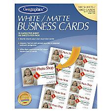 Geographics Inkjet Laser Print Business Card