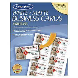Geographics Inkjet Laser Print Business Card