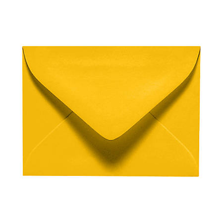 """LUX Mini Envelopes With Moisture Closure, #17, 2 11/16"""" x 3 11/16"""", Sunflower Yellow, Pack Of 500"""