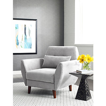 Serta Artesia Collection Arm Chair, Smoke Gray/Chestnut