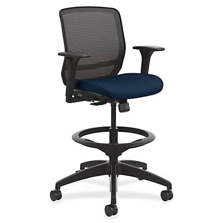 basyx by HON® Quotient Mesh Mid-Back Task Stool, Navy/Black