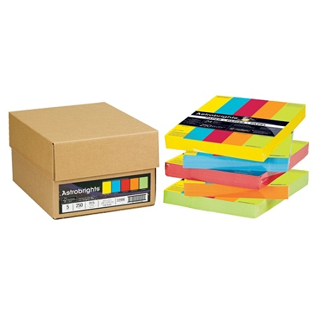 Neenah Astrobrights Bright Color Paper Letter Size 24 Lb Assorted