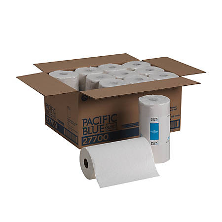 """Pacific Blue Select™ by GP PRO 2-Ply Perforated Towel Rolls, 8 13/16"""" x 11"""", 250 Sheets Per Roll, Case Of 12 Rolls"""