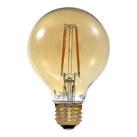 Euri G25 Amber Glass Dimmable 670 Lumens LED Filament Bulb, 7 Watt, 2,400 Kelvin