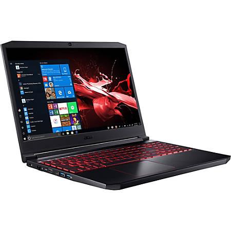 "Acer Nitro 7 AN715-51-73BU - Core i7 9750H / 2.6 GHz - Win 10 Home 64-bit - 8 GB RAM - 256 GB SSD - 15.6"" IPS 1920 x 1080 (Full HD) - GF GTX 1650 - Wi-Fi, Bluetooth - obsidian black - kbd: US International"