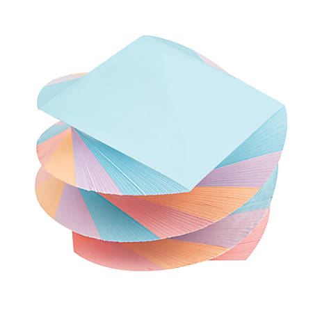 "Office Depot® Brand Twirl Memo Pad, 3"" x 3"", 1,200 Pages (600 Sheets), Assorted Colors"