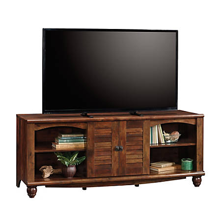 "Sauder® Harbor View Entertainment Credenza For 60"" TVs, 25-3/8""H x 62-5/8""W x 21-5/8""D, Curado Cherry"