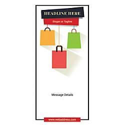 Custom Vertical Display Banner Shopping Bags