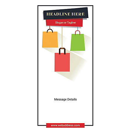 Custom Vertical Display Banner, Shopping Bags