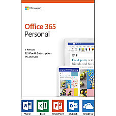 Microsoft Office 365 Personal For 1