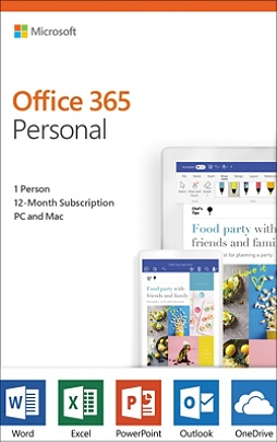 Microsoft® Office, 365 Personal, For 1 User, 1-Year Subscription, Product  Key Card Item # 6597912