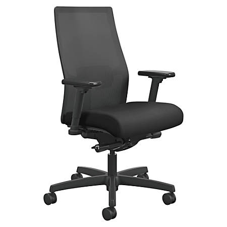 HON® Ignition® Mesh Back Task Chair, Black
