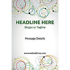 Custom Poster Abstract Circles Vertical