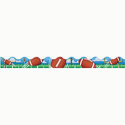 Eureka Deco Trim Strips Football Assorted