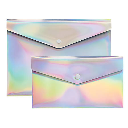 divoga poly snap letter and check envelopes 9 116 x 12 14 rainbow