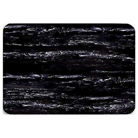 "Office Depot® Brand K-Marble Foot Anti-Fatigue Mat, 24"" x 36"", Black/White"