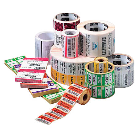 "Zebra Label Paper, U82385, 3"" x 2"" Thermal Transfer Zebra Z™Select 4000T, 1"" Core"