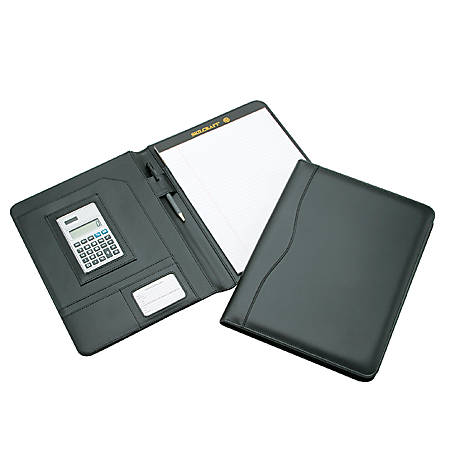 "Pad Holder With Calculator, 9"" x 12"", Black (AbilityOne 7510-01-484-4563)"