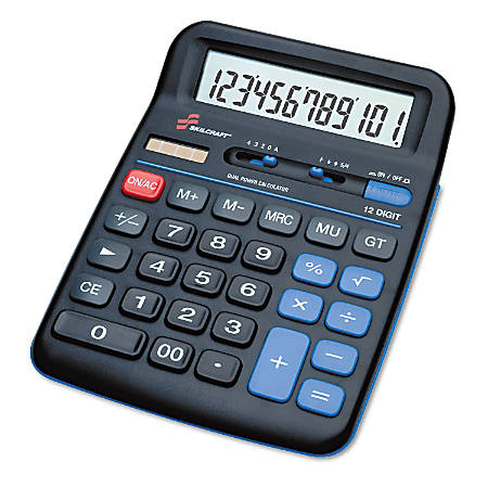 Desktop Calculator, 12-Digit (AbilityOne 7420-01-484-4560)