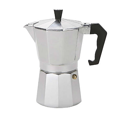 Mind Reader Stainless Steel Coffee Maker, 6 Oz, Silver