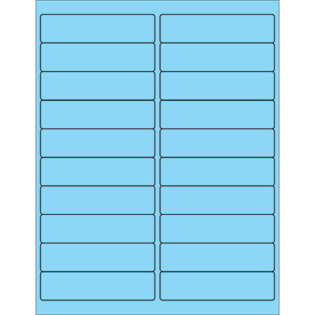 """Office Depot® Brand Labels, LL177BE, Rectangle, 4"""" x 1"""", Pastel Blue, Case Of 2,000"""