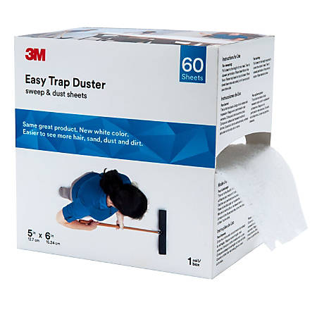 """3M™ Easy Trap Duster Sweep And Dust Sheets, 5"""" x 6"""" x 30', 60 Sheets"""