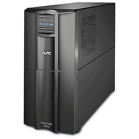 APC® Smart-UPS 10-Outlet Tower With SmartConnect, 3,000VA/2,700 Watts, SMT3000C