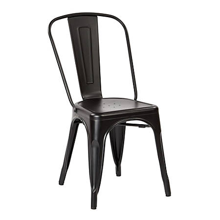 Office Star™ Bristow Armless Chair, Matte Black, Set Of 4 Chairs
