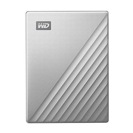 Western Digital® My Passport™ Ultra 4TB Portable External Hard Drive, 64MB Cache, WDBFTM0040BSL-WESN, Silver