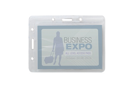 office depot brand convertible name badge holders 3 x 4 pack of 25