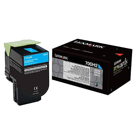 Lexmark™ 70C0H20 High-Yield Cyan Toner Cartridge (S8567792)