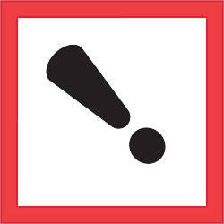 Tape Logic Pictogram Labels DL4242 Exclamation