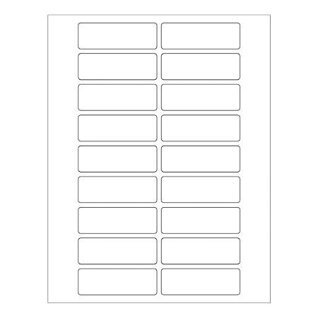 """Office Depot® Brand Weather-Resistant Rectangle Laser Labels, LL246WR, 3"""" x 1"""", White, Pack Of 1,800 Labels"""