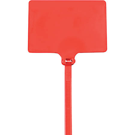 """Office Depot® Brand Identification Cable Ties, 9"""", Red, Case Of 100"""
