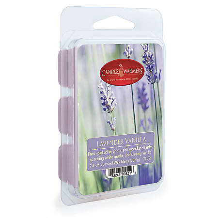 Candle Warmers Etc Wax Melts, Lavender Vanilla, 2.5 Oz, Case Of 4 Packs