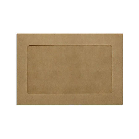 """LUX Full-Face Window Envelopes With Moisture Closure, #6 1/2, 6"""" x 9"""", Grocery Bag, Pack Of 1,000"""