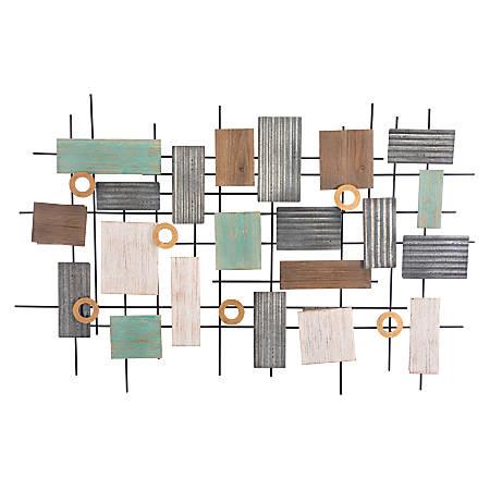 """Zuo Modern Placas Wall Décor, 27 5/8"""" x 47 1/4"""", Antique"""