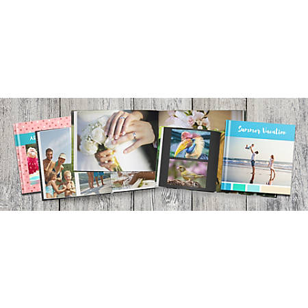 """Classic Hardcover Hinged Photo Book With Extra Pages, 8"""" x 8"""""""