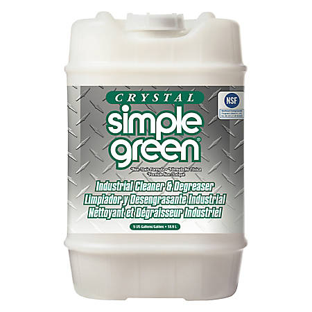 Simple Green® Crystal Industrial Cleaner And Degreaser, 5 Gallon, Pail