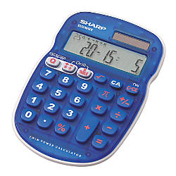 Sharp EL S25BBL Display Calculator Blue