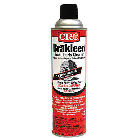 CRC 50 State Formula Brakleen® Brake Parts Cleaners, 20 Oz, Pack Of 12 Cans